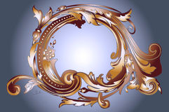 Bronze and Golden Frame Royalty Free Stock Photography