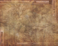 Bronze grunge background. With repeating border elements and abstract and empty background Royalty Free Stock Photography