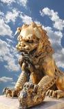 Bronze Guardian Lion Statue in the Forbidden City, Beijing Stock Images