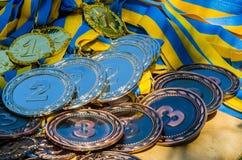 bronze guldmedaljsilver Royaltyfri Bild