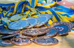bronze guldmedaljsilver Royaltyfria Foton