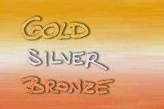 bronze guldsilver Arkivbilder