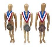 bronze guldsilver för utmärkelsear Arkivbilder