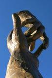 bronze händer Royaltyfri Foto
