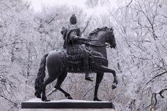 bronze häst mig monument peter Royaltyfria Bilder