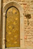 Bronze hammered the door in the ancient Jaffa Royalty Free Stock Photography