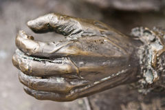Bronze hand detail Royalty Free Stock Images