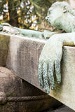 Bronze hand of a statue Royalty Free Stock Photos