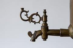 Bronze handle on the old samovar Stock Photo