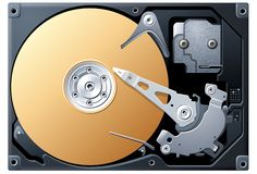 Bronze Hard Disk Drive Stock Image