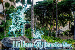Bronze Hawaiian Dancers Stock Photography