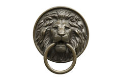 The bronze head of a lion Stock Photo