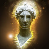 Bronze head of Nike Royalty Free Stock Images