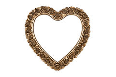 Bronze heart picture frame Royalty Free Stock Photography