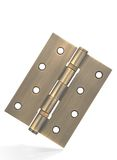 Bronze hinge. With metal texture, isolated on white with clipping path stock photo