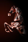 Bronze horse. In the dark background royalty free stock image