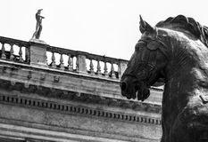 Bronze statue in Rome Stock Photo