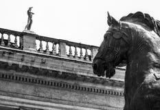 Bronze statue in Rome Stock Photo