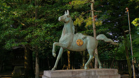 Bronze Horse. In Japan, it is the guardian of the shrine royalty free stock image