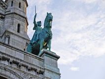 Bronze Horse outside Sacre Coeur, Paris. Stock Photography