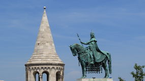 Bronze horse. Statue near the Budapest castle Royalty Free Stock Images