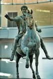 Bronze Horse Statue of the Roman Emperor Marcus Aurelius Royalty Free Stock Images
