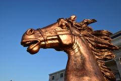 Bronze horse statue(s) in Astana Stock Photos