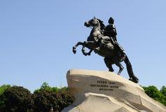 Bronze Horseman. Equestrian statue of Russian emperor Peter the Great in St Petersburg, Russia Stock Images
