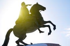 Bronze Horseman. The Bronze Horseman in Saint-Petersburg, Russia Stock Photography
