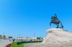 The Bronze Horseman Stock Image