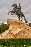 The Bronze Horseman,literally in Russian. Saint. The Bronze Horseman,literally in Russian: Copper horseman, is an equestrian statue of Peter the Great in Saint Royalty Free Stock Photos