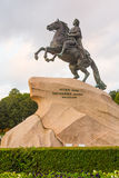 The Bronze Horseman,literally in Russian. Saint Petersburg, Russia. The Bronze Horseman,literally in Russian: Copper horseman, is an equestrian statue of Peter Royalty Free Stock Image