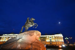Bronze Horseman monument, Saint Petersburg, Russia. Monument of Russian emperor Peter the Great, known as The Bronze Horseman, in Saint Petersburg, Russia Stock Photography