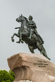 The Bronze Horseman Monument Royalty Free Stock Photo