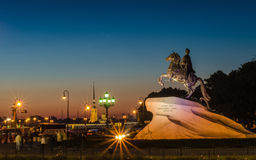 Bronze horseman monument, king Peter 1, Catherine 2 Stock Photography