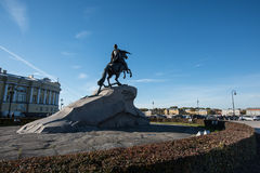 Bronze Horseman - monument to Emperor Peter the Great Stock Images