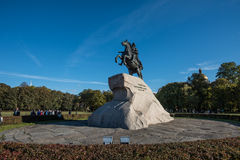 Bronze Horseman - monument to Emperor Peter the Great Stock Photos