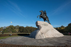Bronze Horseman - monument to Emperor Peter the Great Stock Photo