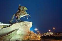 Bronze Horseman monument Royalty Free Stock Images