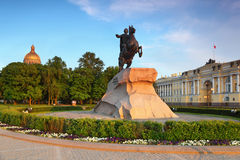 Bronze Horseman - monument to Peter Great Stock Images