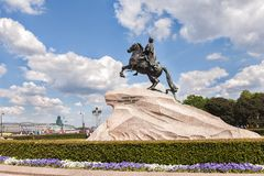 Bronze Horseman - Monument to Peter the Great, Saint Petersburg Royalty Free Stock Photography