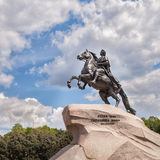 Bronze Horseman - Monument to Peter the Great in Saint Petersburg Stock Images