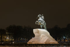 The Bronze Horseman a monument to Peter 1 in St. Petersburg Stock Images