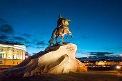 The Bronze Horseman, St Petersburg. Peter the Great monument (Bronze Horseman) on Senatskaia Square, St Petersburg , Russia Royalty Free Stock Photography