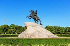 The Bronze Horseman. Saint Petersburg Stock Photo