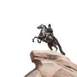 Bronze Horseman in Saint Petersburg, isolated on white Stock Photo