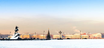 The Bronze Horseman. Saint-Petersburg, Neva river, the bronze horseman Stock Images