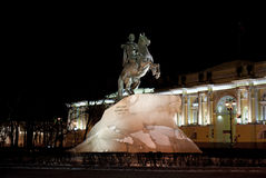 Bronze Horseman in Saint Petersburg, Russia Royalty Free Stock Image