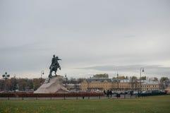 The Bronze Horseman in St.Petersburg Stock Photo