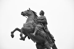 Bronze Horseman in St. Petersburg. Royalty Free Stock Image